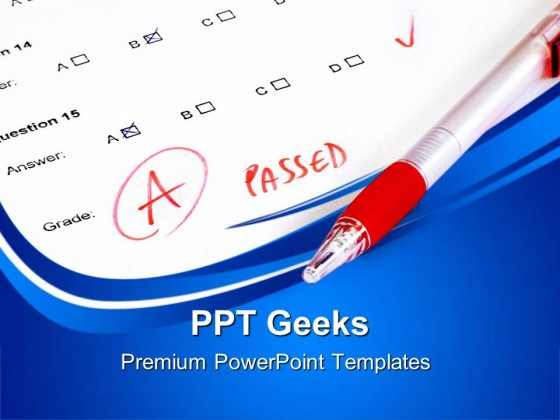 passed test college concept education powerpoint templates and, Modern powerpoint