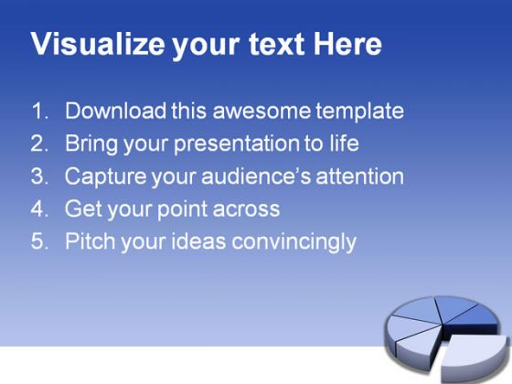 Pie Business PowerPoint Template 0510