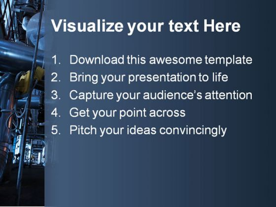 Pipeline Industrial PowerPoint Template 0810