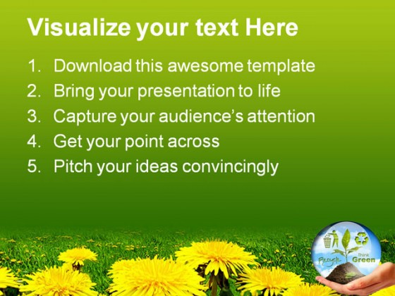 Plant In Hand Nature PowerPoint Templates And PowerPoint Backgrounds 0411