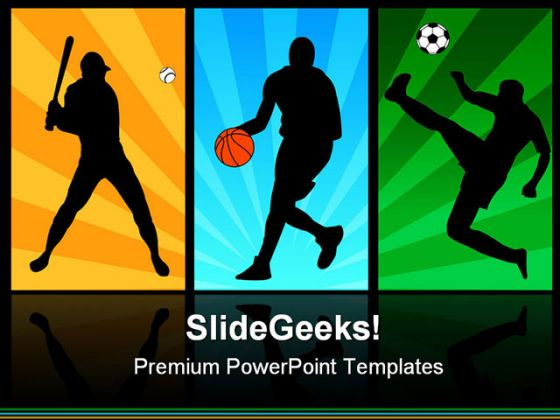 players sports powerpoint backgrounds and templates, Powerpoint