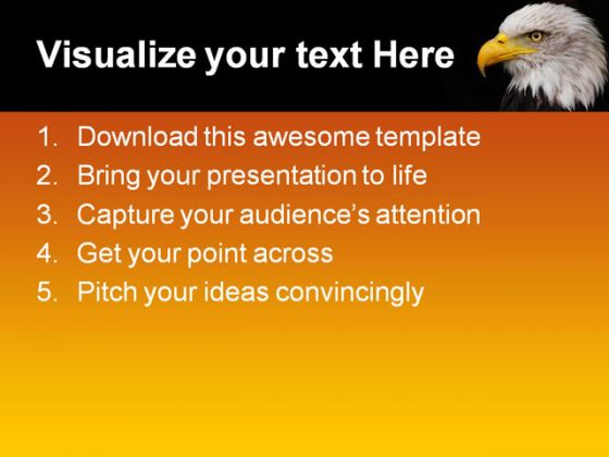 of eagle animals powerpoint template 1110, Modern powerpoint