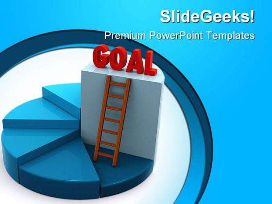 Reach Goal Business PowerPoint Background And Template 1210