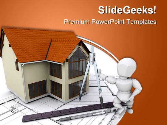 Real Estate Architecture Powerpoint Template 1010