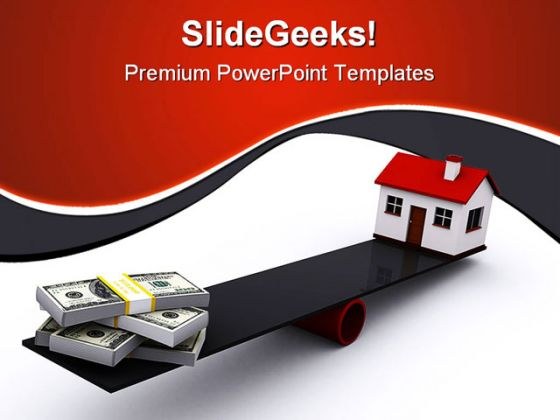Real Estate Finance PowerPoint Template 0910