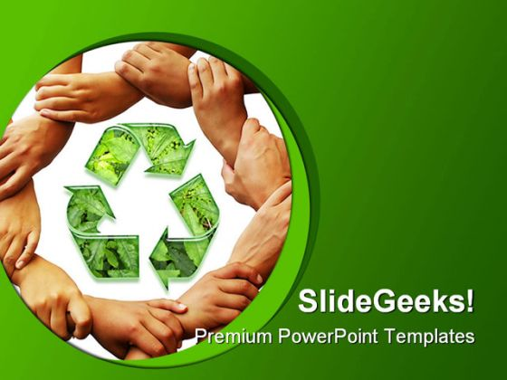 recycle01 environment powerpoint template 1110, Modern powerpoint
