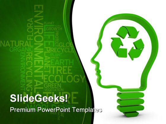 Recycling brain business powerpoint template 0810 toneelgroepblik Gallery