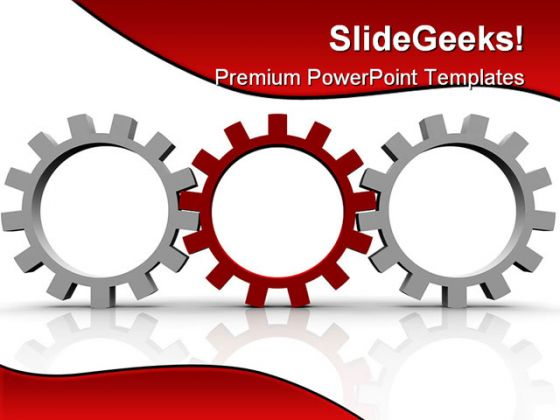 red gear leadership powerpoint template 0810, Modern powerpoint