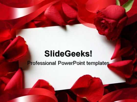 red roses wedding powerpoint template 0610, Powerpoint templates