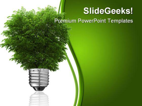 renewable energy concept metaphor powerpoint template 0810, Presentation templates