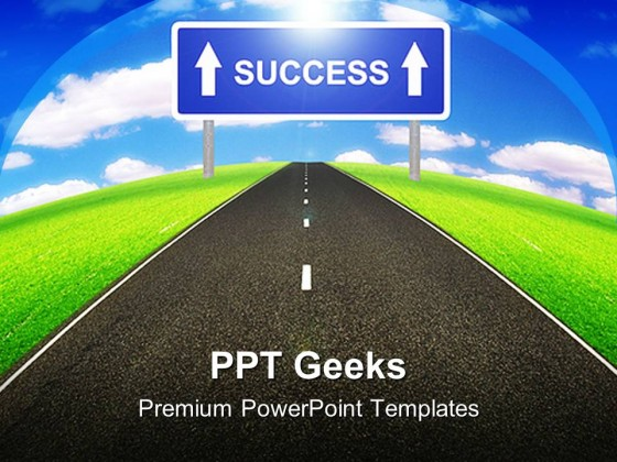 Road To Success Business PowerPoint Templates And PowerPoint Backgrounds 0411