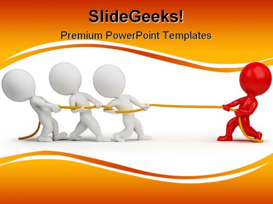 Rope Pulling People Teamwork PowerPoint Backgrounds And ...
