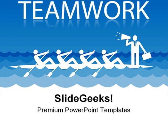 rowing team people teamwork powerpoint template, Templates