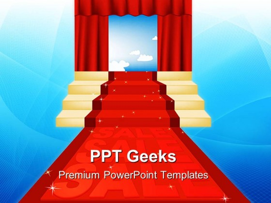 Sale Red Carpet Business PowerPoint Templates And PowerPoint Backgrounds 0411
