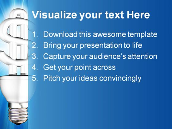 Saving Energry Metaphor PowerPoint Template 0810