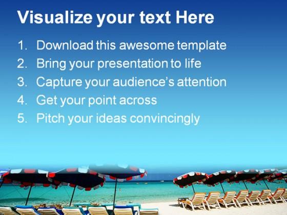 beach powerpoint templates