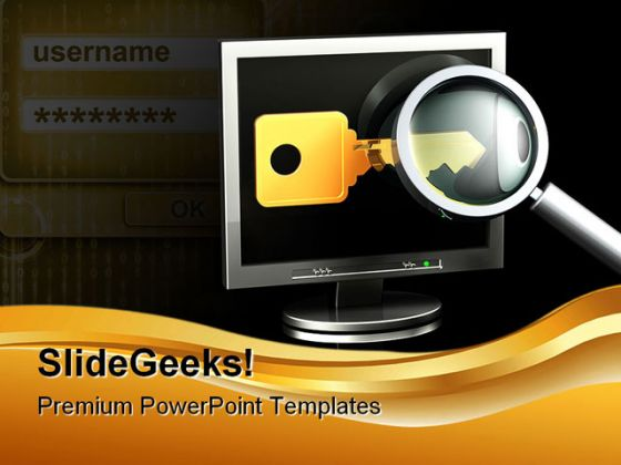 Searching Password Security PowerPoint Backgrounds And Templates 1210