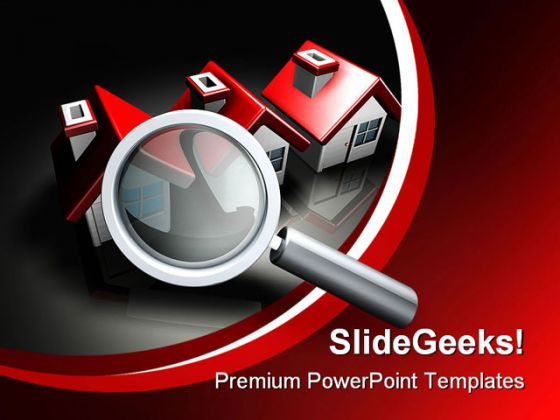 Searching Perfect Home Internet PowerPoint Template 1110