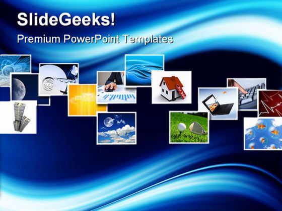 Several Business PowerPoint Template 1110
