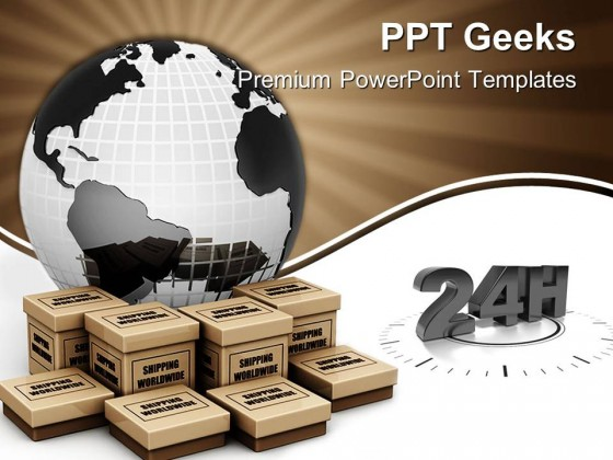 Shipping Worldwide Concept Globe PowerPoint Templates And PowerPoint Backgrounds 0411