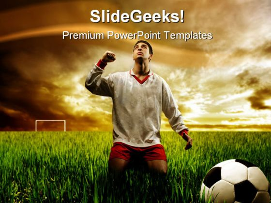 soccer player sports powerpoint template 0910. Black Bedroom Furniture Sets. Home Design Ideas