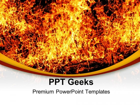 Solid Fire Religion PowerPoint Templates And PowerPoint Backgrounds 0411
