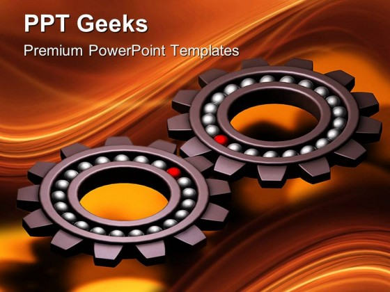 Special Gears Industrial PowerPoint Templates And PowerPoint Backgrounds 0411