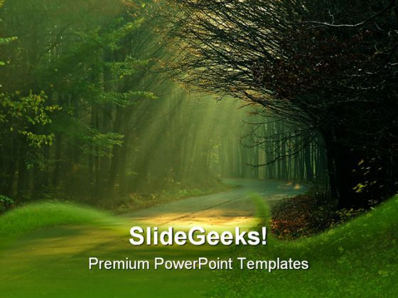 sunbeams nature powerpoint template 0610, Powerpoint templates