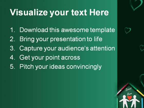 sweet home family powerpoint template 0810