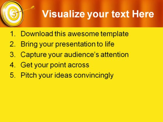 Target02 Business PowerPoint Template 0910