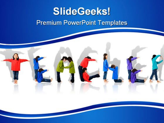 teacher children powerpoint template 0810, Powerpoint templates