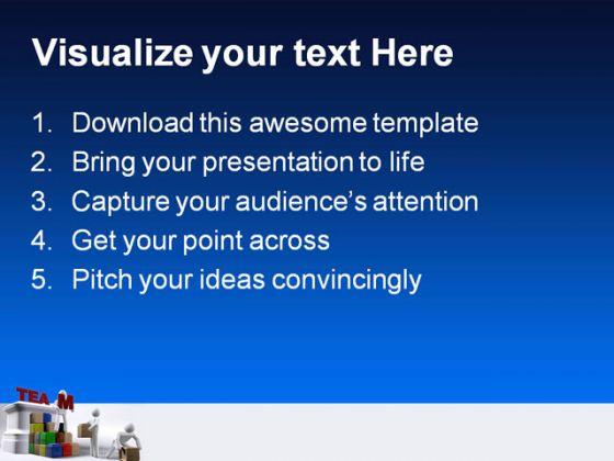 building people teamwork powerpoint template 1110, Modern powerpoint