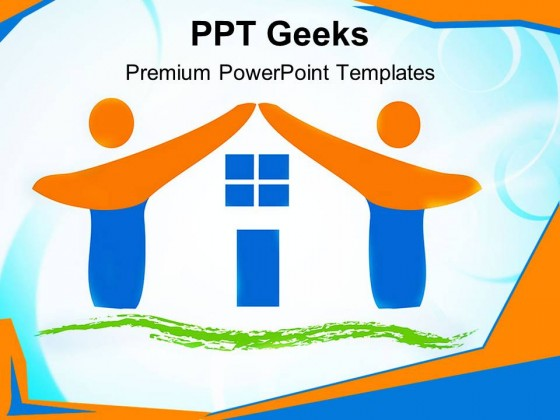 Team Made House Family PowerPoint Templates And PowerPoint Backgrounds 0411