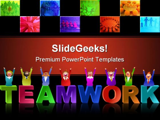 Teamwork people powerpoint template 0510 toneelgroepblik Gallery
