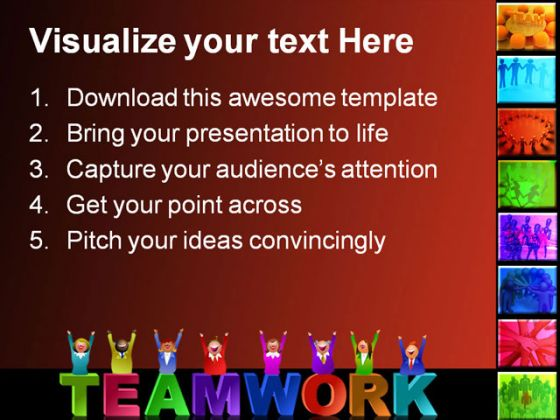 people powerpoint template 0510, Modern powerpoint