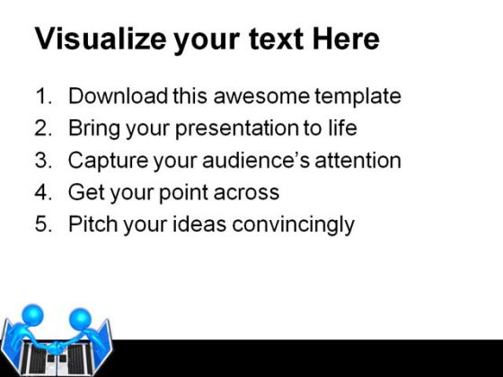 Technology Handshake Business PowerPoint Template 0810