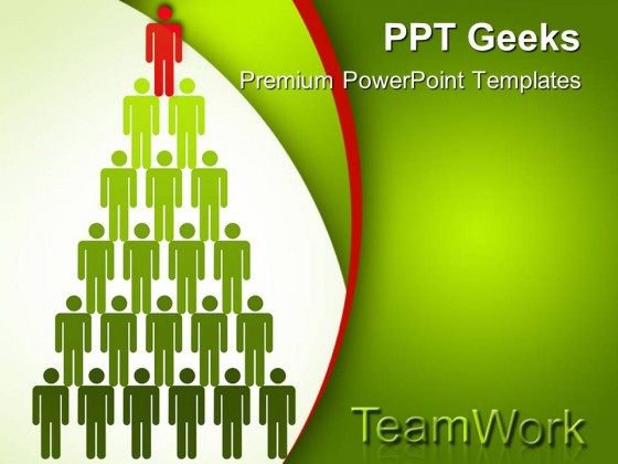 Top Man Teamwork PowerPoint Templates And PowerPoint Backgrounds 0411