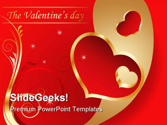 Valentine Day Holidays PowerPoint Template 0610