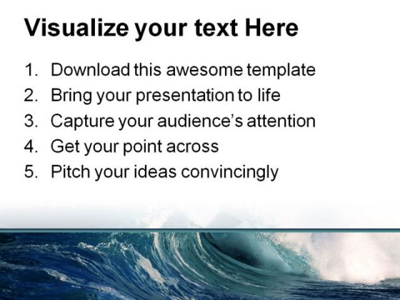 Wave Beach PowerPoint Template 0510