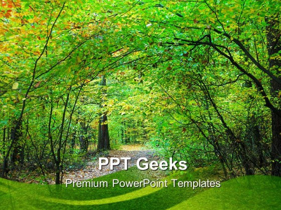 forest powerpoint powerpoint templates, Powerpoint templates