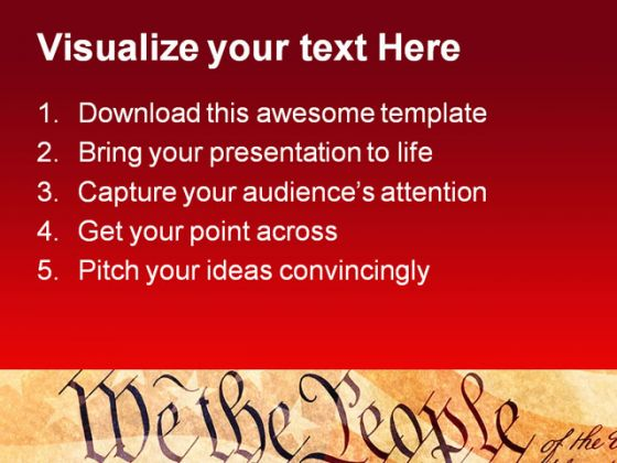 We The People Americana PowerPoint Template 0810