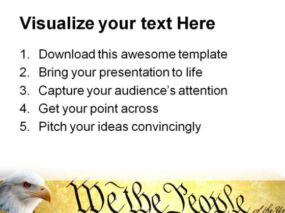 We The People Government PowerPoint Template 1010