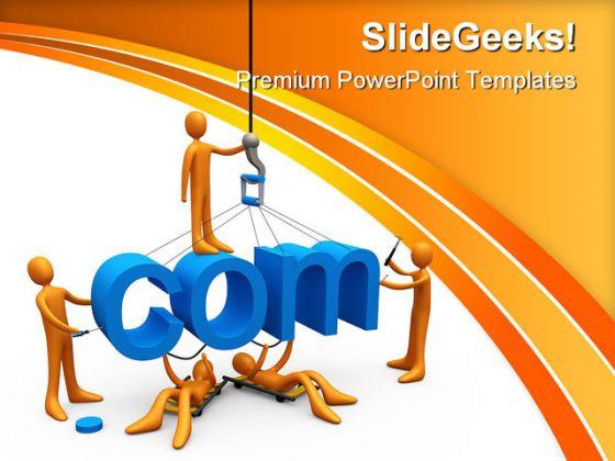 web design internet powerpoint template 0810, Modern powerpoint