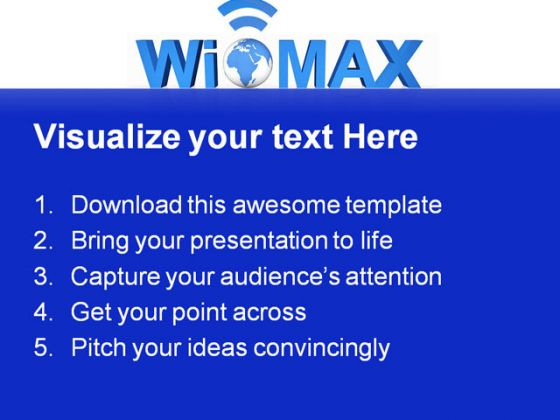 Wimax Technology Earth PowerPoint Backgrounds And Templates 1210