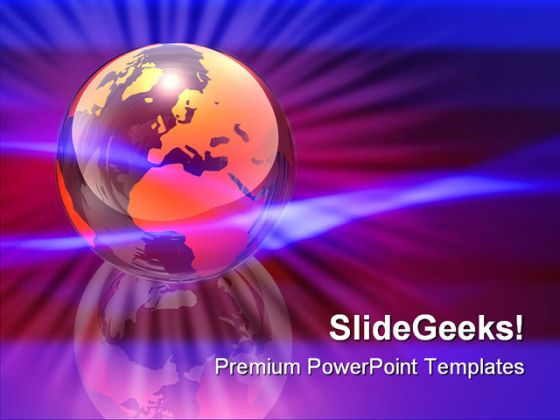 World Energy Globe PowerPoint Template 0810