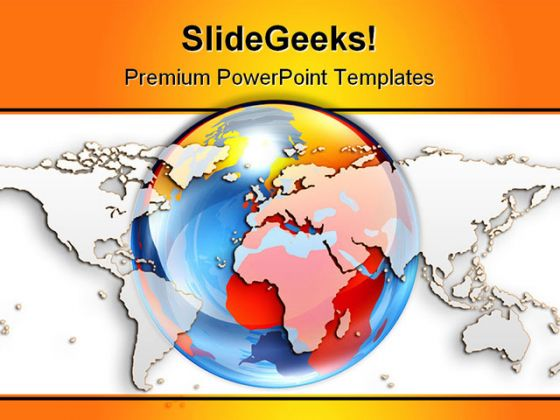World Maps And Globe PowerPoint Background And Template 1210
