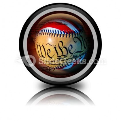 America Baseball PowerPoint Icon Cc