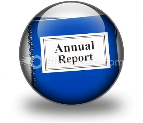 Annual Report PowerPoint Icon C