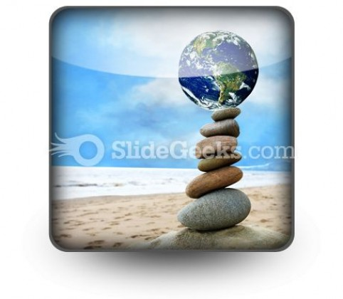 Balanced World PowerPoint Icon S