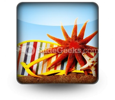 Beach Still Life PowerPoint Icon S
